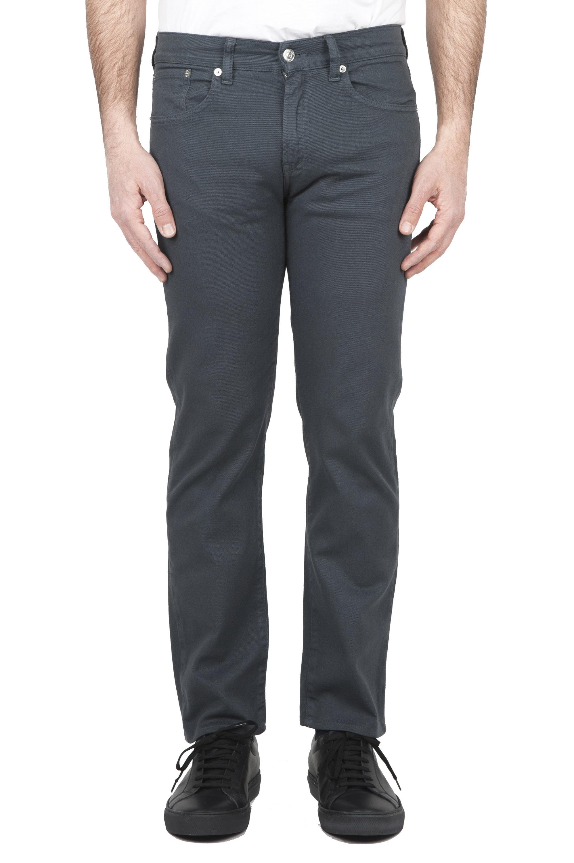 SBU 01667 Pantalones vaqueros de algodón denim elástico gris overdyed prelavado 01