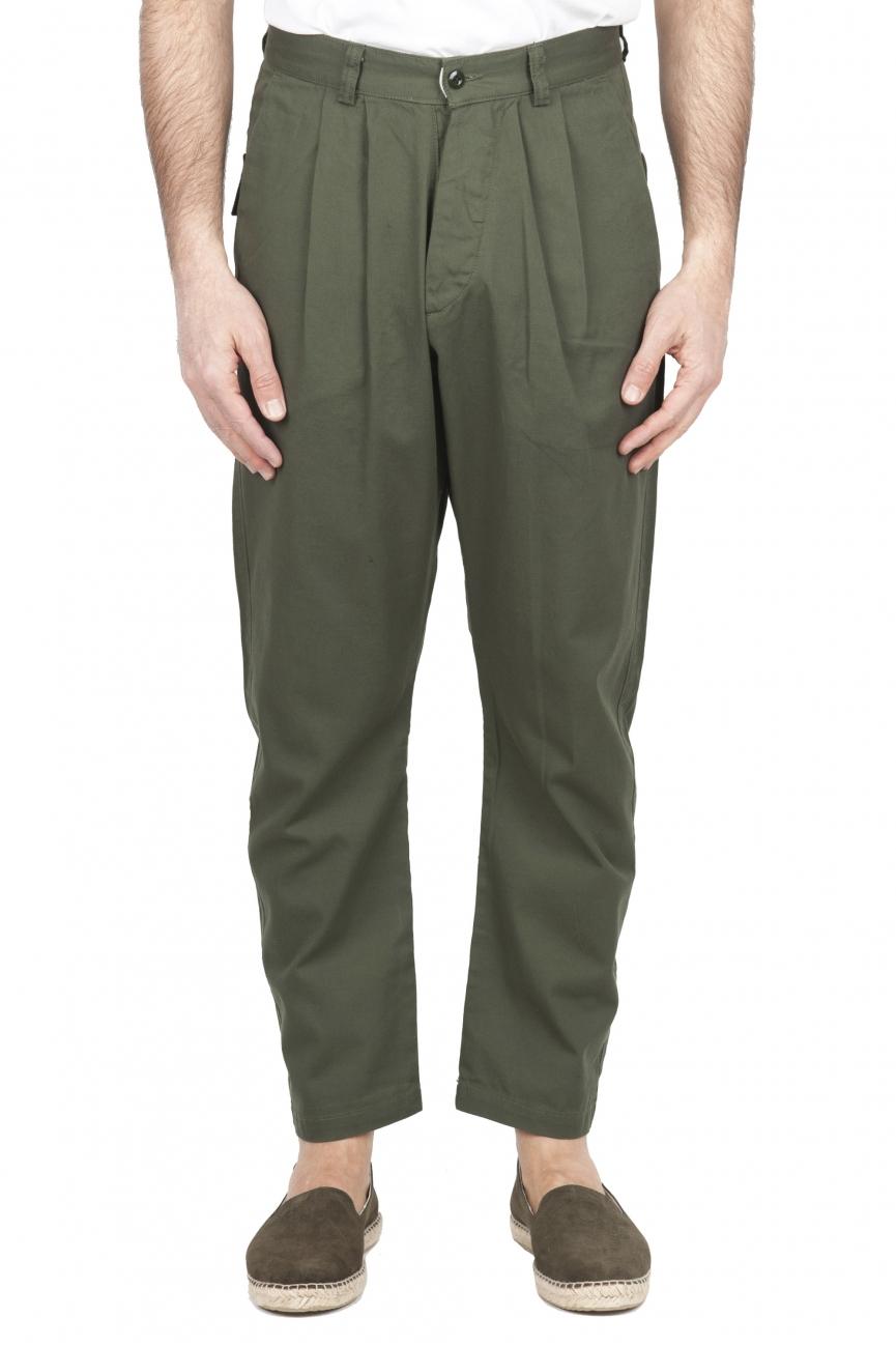 SBU 01670 Pantalon de travail japonais à deux pinces en coton vert 01