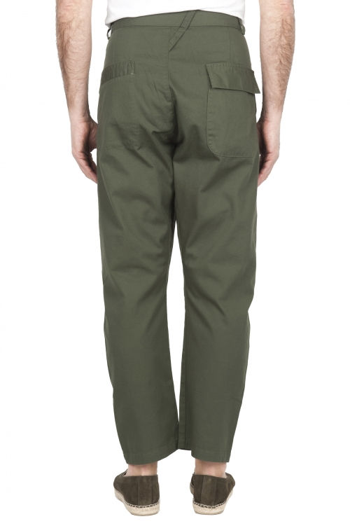 SBU 01670 Japanese two pinces work pant in green cotton 01