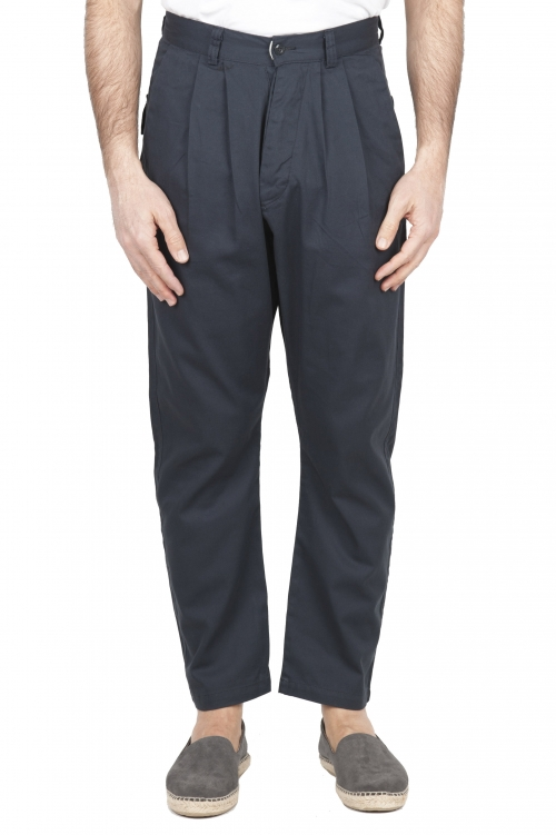 SBU 01673 Japanese two pinces work pant in grey cotton 01