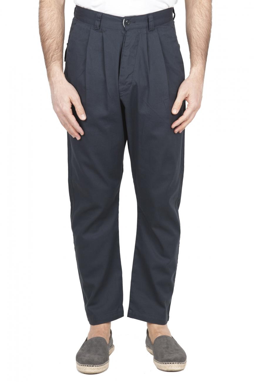SBU 01673 Pantalon de travail japonais à deux pinces en coton gris 01