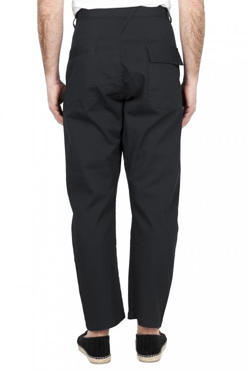 SBU 01674 Pantalon de travail japonais à deux pinces en coton noir 01