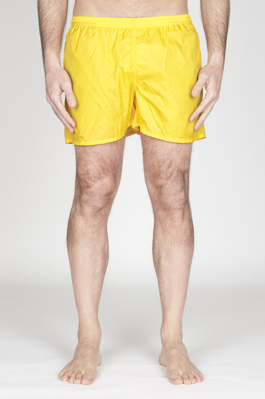 SBU - Strategic Business Unit - Swimsuit Classic Trunks In Yellow Ultra Lightweight Nylon