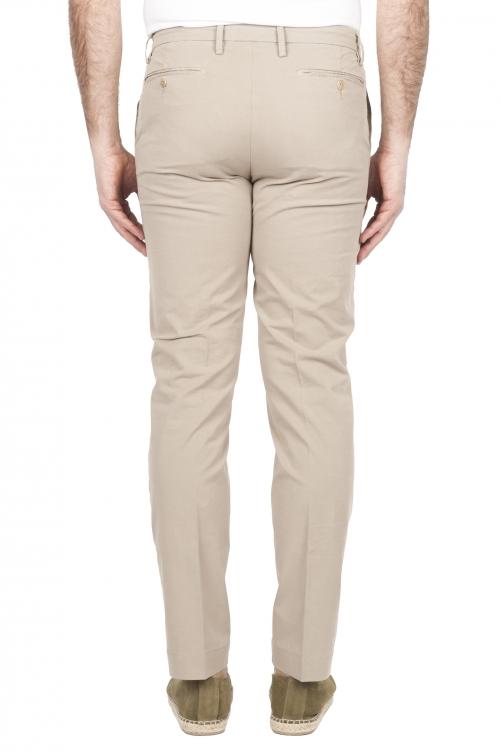 SBU 01680 Pantalones chinos clásicos en algodón elástico beige 01