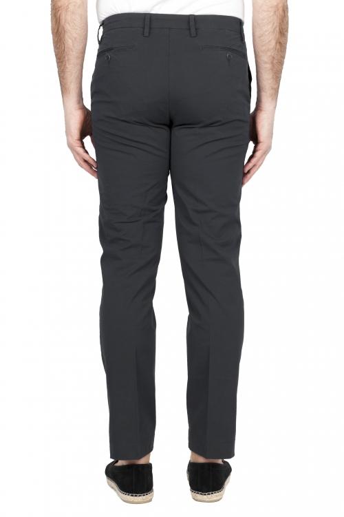 SBU 01681 Pantalones chinos clásicos en algodón elástico negro 01