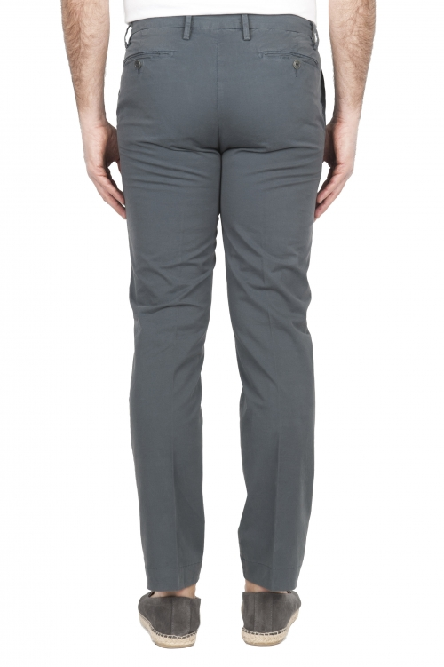 SBU 01682 Pantaloni chino classici in cotone elasticizzato grigio 01