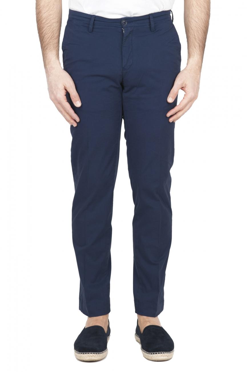 SBU 01684 Pantalon chino classique en coton stretch bleu marine 01