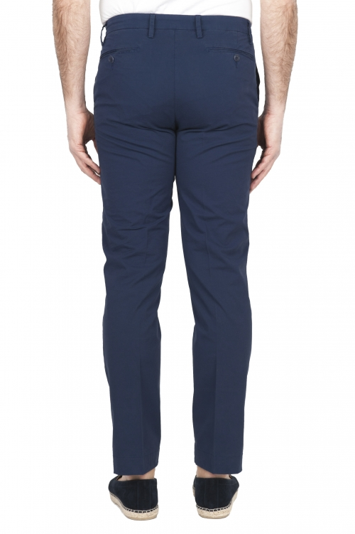 SBU 01684 Classic chino pants in navy blue stretch cotton 01