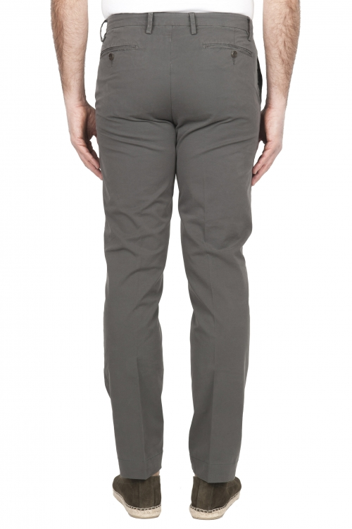 SBU 01685 Classic chino pants in kahki stretch cotton 01