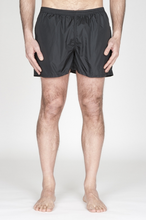 SBU - Strategic Business Unit - Swimsuit Classic Trunks In Black Ultra Lightweight Nylon