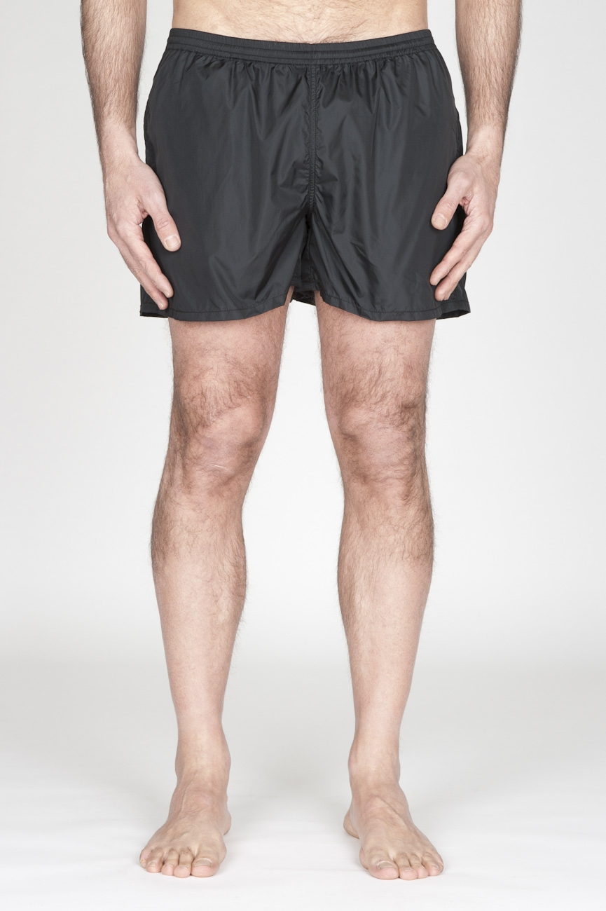 SBU - Strategic Business Unit - Swimsuit Classic Trunks In Black Ultra Lightweight Nylon