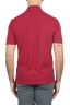 SBU 01690 Classic short sleeve red cotton crepe polo shirt 05