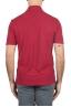 SBU 01690 Polo in crepe di cotone a maniche corte rossa 05
