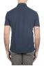 SBU 01692 Classic short sleeve navy blue cotton crepe polo shirt 05