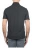 SBU 01693 クラシック半袖黒コットンクレープポロシャツ 05