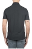 SBU 01693 Classic short sleeve black cotton crepe polo shirt 05