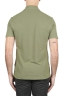 SBU 01694 Classic short sleeve green cotton crepe polo shirt 05