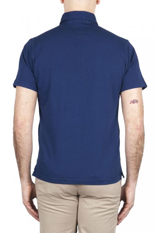 SBU 01695 Classic short sleeve china blue cotton jersey polo shirt 01