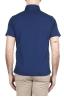 SBU 01695 Polo classique en jersey de coton bleu Chine à manches courtes 04