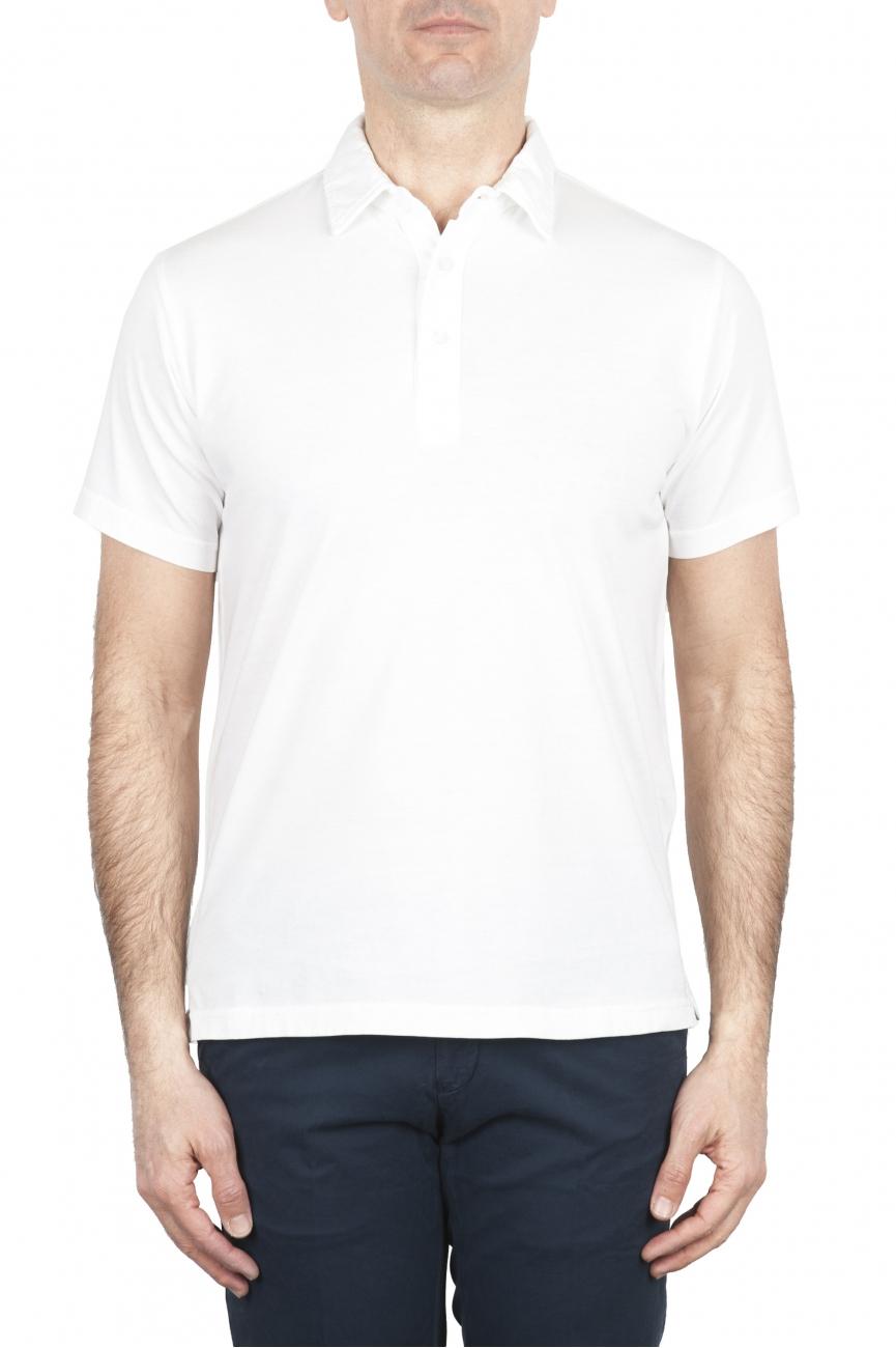 SBU 01696 Polo in jersey di cotone a maniche corte bianca 01
