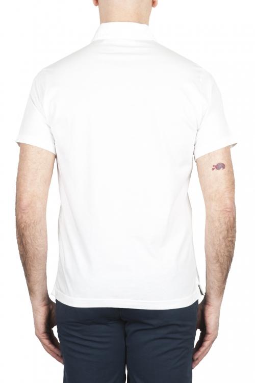 SBU 01696 Polo classique en jersey de coton blanc à manches courtes 01