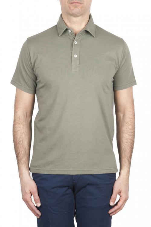 SBU 01697 Polo clásico de manga corta en jersey de algodón verde 01