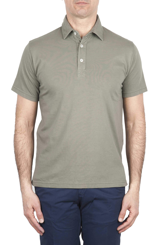SBU 01697 Polo in jersey di cotone a maniche corte verde 01