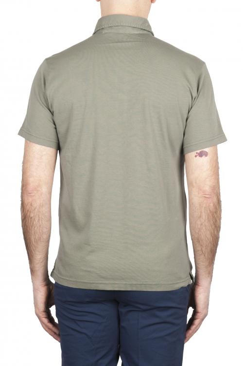 SBU 01697 クラシック半袖グリーンコットンジャージーポロシャツ 01