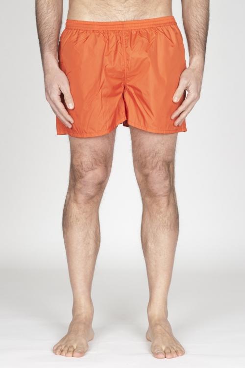 超軽量ナイロンのオレンジ色の水着クラシックトランク