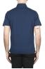 SBU 01698 Polo classique en jersey de coton bleu marine à manches courtes 04