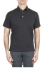 SBU 01699 Classic short sleeve black cotton jersey polo shirt 01