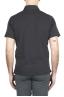 SBU 01699 クラシック半袖ブラックコットンジャージーポロシャツ 04