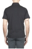 SBU 01699 Classic short sleeve black cotton jersey polo shirt 04