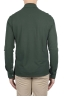 SBU 01715 Classic long sleeve green cotton crepe polo shirt 04