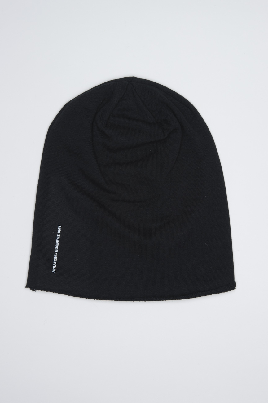 Classic Sharp Cut Black Jersey Bonnet