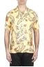 SBU 01716 Camisa hawaiana estampada de algodón amarillo 01
