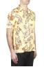 SBU 01716 Camicia hawaiana fantasia in cotone stampato gialla 02