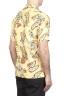 SBU 01716 Camisa hawaiana estampada de algodón amarillo 04