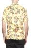 SBU 01716 Camicia hawaiana fantasia in cotone stampato gialla 05