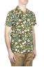 SBU 01717 Hawaiian printed pattern green cotton shirt 02