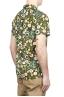 SBU 01717 Hawaiian printed pattern green cotton shirt 04