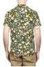 SBU 01717 Camisa hawaiana estampada de algodón verde 05