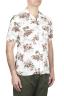SBU 01718 Camisa hawaiana estampada de algodón blanca 02