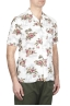 SBU 01718 Hawaiian printed pattern white cotton shirt 02