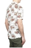 SBU 01718 Hawaiian printed pattern white cotton shirt 04
