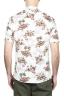 SBU 01718 Camisa hawaiana estampada de algodón blanca 05