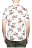 SBU 01718 Hawaiian printed pattern white cotton shirt 05