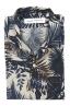 SBU 01719 Camisa hawaiana estampada de algodón azul 06