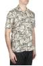 SBU 01720 Camisa hawaiana estampada de algodón marrón 02