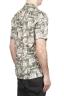 SBU 01720 Camisa hawaiana estampada de algodón marrón 04